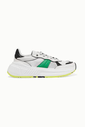 Bottega Veneta Speedster Leather And Mesh Sneakers - White