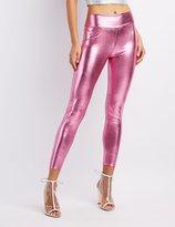 Charlotte Russe Metallic High-Rise Liquid Leggings