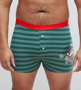 Asos PLUS Jersey Boxers With Holidays Sausage Dog Print SAVE