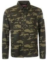 Karrimor Mens Overshirt Long Sleeve Casual Shirt Cotton Zip Camouflage Print