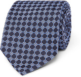 Dunhill - 8cm Mulberry Silk-jacquard Tie