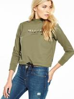 Nicce Cropped Logo Sweat Top