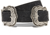 B-Low the Belt Dakota Blossom Large Double Buckle Belt