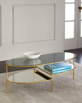 Arteriors Chief Gold Leaf Mirrored Coffee Table