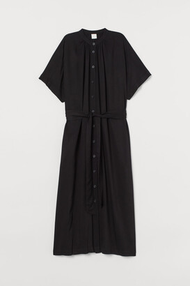 H&M Tie Belt Dress - Black