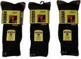 Kodiak Outdoor Men's Socks, Black and Grey, 6 pairs