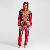 Deadpool Men's Deadpool Hooded Union Suits Red