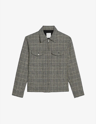 Sandro Morrissey checked wool jacket