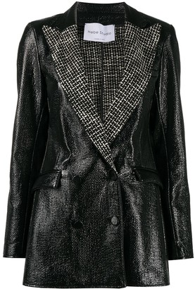 Hebe Studio Shiny Fitted Jacket