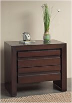 Modus Furniture Element Charging Station Nightstand, Chocolate Brown