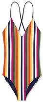 Tory Burch Feliz Stripe One-Piece