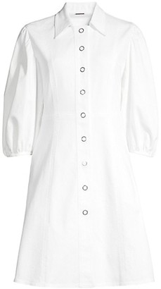Elie Tahari Rumer Twill Button Dress