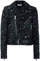 Saint Laurent sequin biker jacket