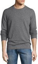 Brunello Cucinelli Cashmere Long-Sleeve Sweater, Charcoal