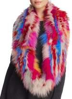 Jocelyn Knitted Fox Fur Sections Infinity Scarf