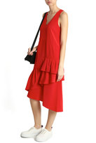Tibi Ruffle Asymmetrical Dress