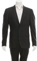 John Varvatos Pinstripe Notch-Lapel Blazer