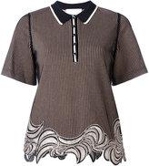 3.1 Phillip Lim striped top - women - Polyester/Spandex/Elastane/Viscose - S