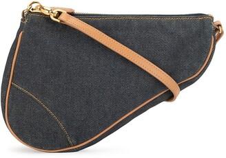 Christian Dior pre-owned Saddle denim tote bag