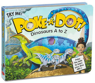Melissa & Doug Melissa Doug Children Book - Poke-a-Dot: Dinosaurs A to Z Board Book with Buttons to Pop