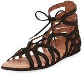 Gentle Souls Break My Heart Flat Nubuck Gladiator Sandal