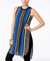 Bar III Sleeveless Striped Tunic, Only at Macy's