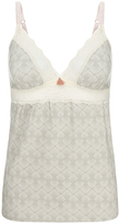 Eberjey Looking Glass Grey Jersey and Lace Cami