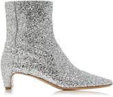 Maison Margiela Glittered Leather Ankle Boots