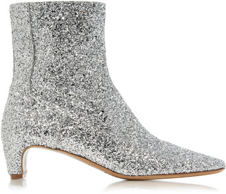 Maison Margiela Glittered Leather Ankle Boots