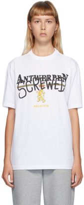 Vetements White Antwerpen Screwed T-Shirt