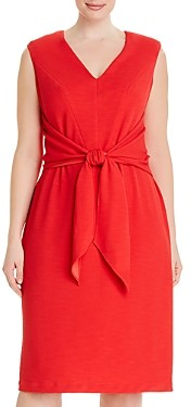 Adrianna Papell Rio Knit Tie-Front Sheath Dress