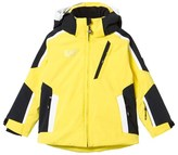Armani Junior Yellow and Black Klingler Colour Block Ski Jacket