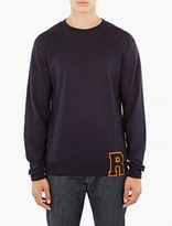 Raf Simons Navy Letter-Detail Sweatshirt