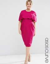Asos Wiggle Dress with Frill Sleeve