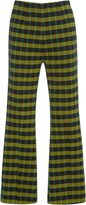 Marni Flared Checkered Trousers