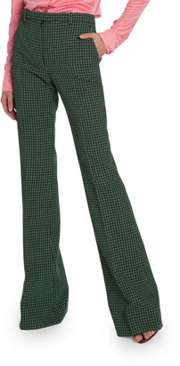 Givenchy Checked Wool Crepe Pants
