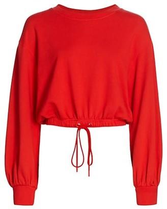 Alice + Olivia Bernetta Drawstring Sweatshirt