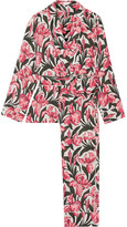 Equipment Odette Printed Washed-silk Pajama Set - Pink