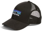 Patagonia Men's P-6 Logo Trucker Hat - Black