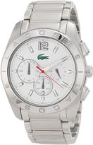 Lacoste Men's Panama 2010604 Silver Stainless-Steel Quartz Watch with Dial