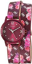 GUESS Women's Stainless Steel Floral Wrap Casual Watch