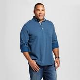 Merona Men's Big & Tall Blue Dot Long Sleeve Polo Shirt