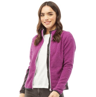 Trespass Womens Liggins Full Zip Textured Fleece Jacket Purple Orchid