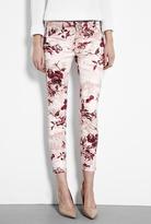 J Brand Denim Twisted Pink Seashell Cropped Skinny Jeans