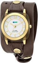 La Mer Women's LMACETATE002 Smokey Quartz Acetate Wrap Watch