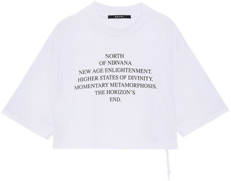 Ksubi Cropped Printed Cotton-jersey T-shirt