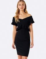 Forever New Lola Off-Shoulder Flutter Dress