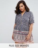 Koko Plus Tunic Dress In Floral Print