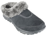 Skechers As Is GOwalk Suede Clogs w/ Faux Fur Lining