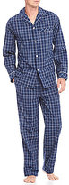 Roundtree & Yorke Woven Plaid Pajama Set